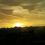 黄金の夕焼け